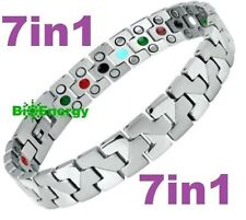 TITANIUM Magnetic Energy Armband Power Bracelet Health Bio 7in1 Bio  255660