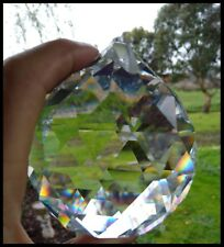 Crystal BALL 80mm CLEAR Faceted Sparkly HUGE Suncatcher SPHERE Pendant facets