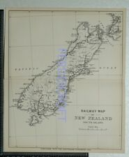 1891  Railway Map of South Island, New Zealand