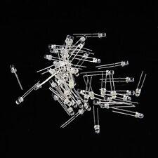 100 Stueck 3mm Weisse LED Licht emittierende Diode GY