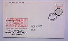GREAT BRITAIN FiRST DAY COVER COMMONWEALTH HEADS OF GOVERNMENT MEETING  1977