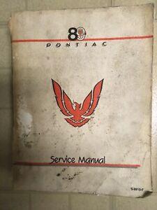Genuine 1989 Pontiac Firebird Trans Am Factory Service Shop Repair Manual OEM