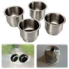 4PCS Stainless Steel Cup Drink Holder Marine Boat Car Truck Camper RV Simple
