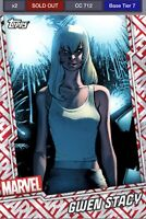 Marvel Topps Collect Tier 7 Gwen Stacy motion