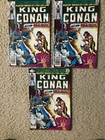 Lot of 3 Marvel #1 King Conan Comics 1980  Newsstand and Direct Nice Shape