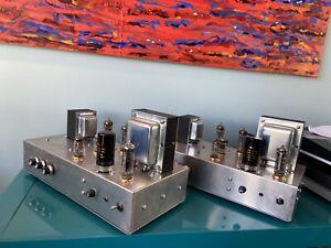 Mullard Valve Amplifiers (PAIR) 5-10 Mono Block Power Amps Full Working Order