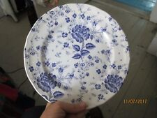 QUADRIFOGLIO  flowers BLUE ROSE CHINTZ dinner plate MADE IN ITALY 9.5 inch