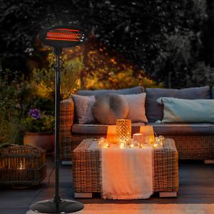 REFURBISHED Neo 2KW Electric Quartz Outdoor Standing Garden Patio Heater Heating