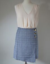 Next Outlet Women's Checked Gingham Ladies Casual Party  Trendy Mini Skirt UK 12