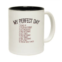 Funny Mugs - My Perfect Day Motorbike - Joke Gift Christmas Present NOVELTY MUG