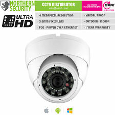 4MP 3.6MM FULL 1080P POE P2P 20M IR AUDIO EYEBALL TURRET IP SECURITY CAMERA CCTV