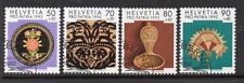SWITZERLAND USED 1992 SG1246-1249 PRO PATRIA - FOLK ART