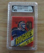 1977 OPC Unopened Hockey Wax Pack Graded GAI 8.5 NM-MT +
