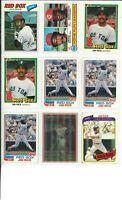 Lot of (68) JIM RICE Vintage Baseball Cards - MLB Boston Red Sox - Nice!