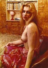 Original Vintage Large (5 x7) COLOR 1960s-70s Artistic Nude RP- Pink Dress