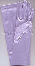"""23"""" Lilac Lavender Stretch Satin Wedding Prom Cosplay Party Costume Opera Gloves"""