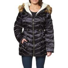 Jessica Simpson пуховик-пальто для женский-искусственный мех уютная подкладка стеганая зимняя куртка