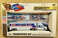 New 1992 Road Champs 1:64 NASCAR Richard Petty STP #43 Team Transporter Set