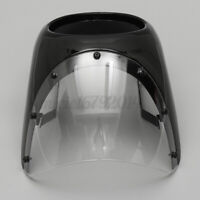 7'' Motorcycle Headlight Fairing Screen Windshield For Cafe Racer Matte Black