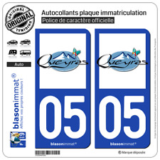 2 Blason plaque immatriculation auto | 05 Queyras - Vallée Hivers | 05470