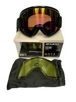 GIRO SEMI Goggles Adult Medium Extra Lens Ski Snowboard Rose Rainbow Lens NEW