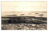 RPPC Bar Harbor & Porcupines from Cadillac Mt., Maine Real Photo Postcard