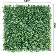6 Boxwood Hedge Panels Artificial Greenery Fence Screen Garden  Privacy Mat Wall