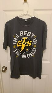 CM Punk WWE GTS Best in the World Gray T-Shirt Size L Large
