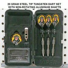 Darts 20 gram Steel Tip Tungsten Dart Set with Hell Cat Flights