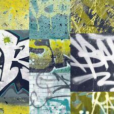 1,46€//1qm Tapete Kinder Graffiti Rasch bunt 291506 Kids /& Teens