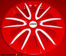 4 Radkappen FREE rot glanz-weiss mit 2 x Klarlack 15 Zoll--NEU--TOP