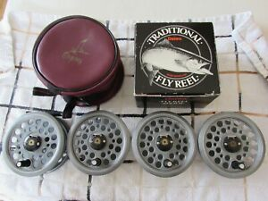 "A1 vintage daiwa osprey youngs 809 trout 1500 fly fishing reel 3.5"" + 3 spools"