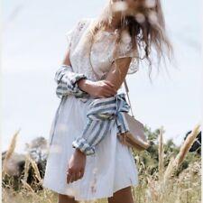 MADEWELL Gio eyelet white cotton lace dress w pleated skirt US 6 / UK 10 £135