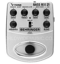 Behringer BDI21 V Tono BASS AMP MODELER PREAMP DI BOX