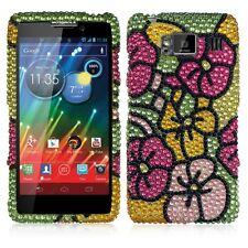 For Motorola DROID RAZR HD Crystal BLING Hard Case Phone Cover Hawaii Flower