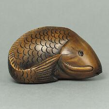 "Boxwood Netsuke ""CARP FISH KOI"" Carving (WN277)"