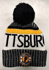 Pittsburgh Penguins Team Color Landmark Patch  Pom Pom Knit Beanie Hat
