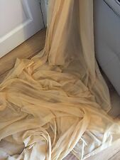 "25 MTR ROLL OF SOFT GOLD TULLE STUDDED BRIDAL/DECORATION NET FABRIC..45"" WIDE"