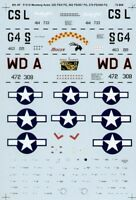 MICROSCALE DECALS 1/72 North-American P-51D Mustang AS 8th Force Aérienne
