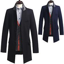 Herren Legend Slim Fit Einzel langen Mantel Jacke Blazer Pullover K006- S/M/L/XL
