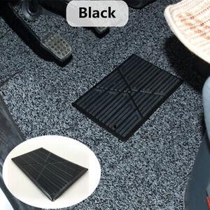 1x Black Car Floor Mat Carpet Non-slip Foot Rest Pedal Plate Pad Fit for Driver