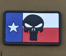 """PVC / Rubber Patch """"Punisher Texas Flag"""" with VELCRO® brand hook"""