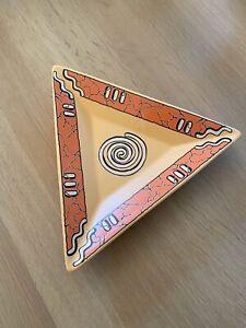 Wächtersbach Keramik Pasiega Platte Dreiecksform ca. 23cm