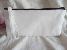 10x Eco Handcraft Blank Canvas Makeup bag DIY Wash clutch bag Pencil Case Pouch