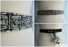STEVE MADDEN Beaded Black Waist Belt Elasticated Back Size S/M 12 to 14 Approx