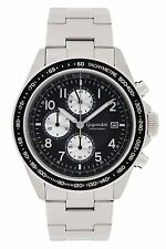 Gigandet Racetrack Herrenuhr Chronograph Datum Edelstahlarmband  Schwarz G24-001