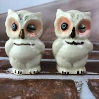 Vintage Shawnee Pottery Winking Owl Salt and Pepper Shakers