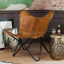 VINTAGE TEN LEATHER RELAX CHAIR ARM CHAIR HANDMADE BUTTERFLY CHAIR BKF