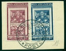 VATICAN CITY #C20-1 Airmail set, used on piece, VF, Scott $240.00