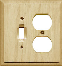 Traditional Unfinished Wood Switchplate / Wallplate 4-411TD Single Toggle/Duplex